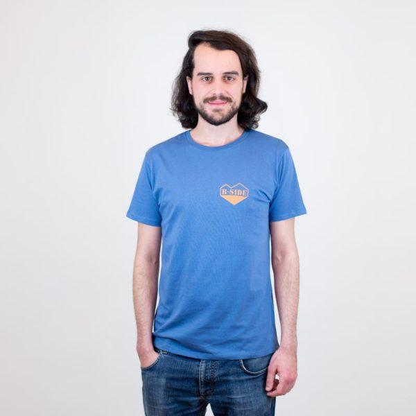 B-Side T-Shirt herz blau für Jungs