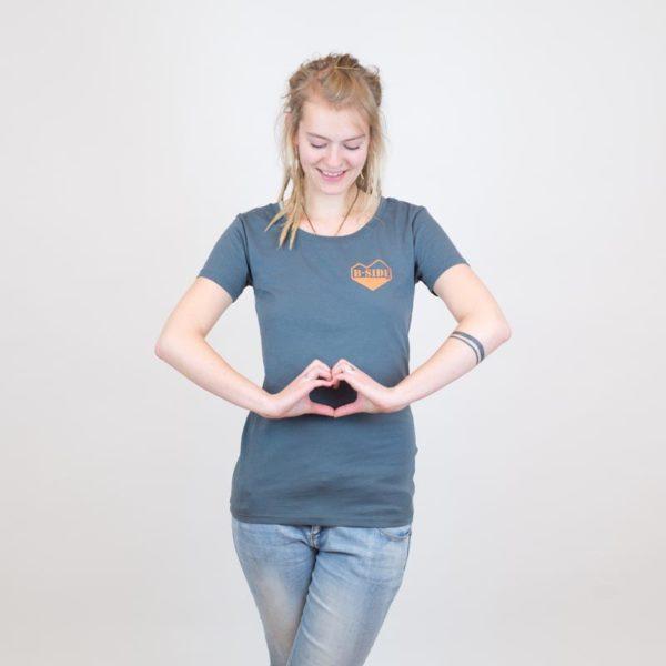 B-Side T-Shirt herz grau für Mädels