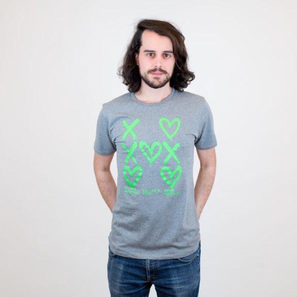 B-Side T-Shirt herzgewinnt grau für Jungs