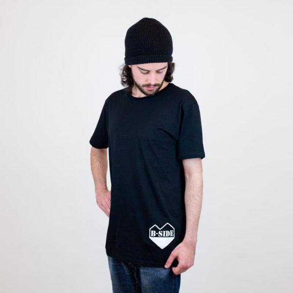 B-Side T-Shirt herz schwarz unten für Jungs